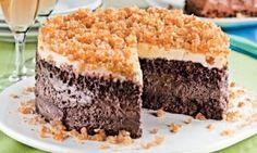 Receita de Bolo Gelado Três Chocolates Para Aniversários,Passo a Passo