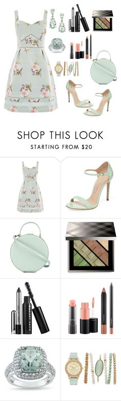 """Untitled #541"" by mamatoodie-1 ❤ liked on Polyvore featuring Oasis, Casadei, Tammy & Benjamin, Burberry, Marc Jacobs, MAC Cosmetics and Ice"