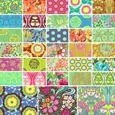 Soul Blossoms Charm Pack by Amy Butler 66 5 Quilting Fabric Squares Fabric Strips, Fabric Squares, Amy Butler Fabric, Funny Tattoos, Charm Pack, Quilt Making, Bag Making, Art Education, Sewing Crafts