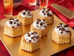 Tis the season for our favorite sweets...like these Toffee Cream Shells!