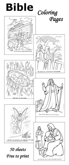 Bible coloring pages - 50+ sheets                                                                                                                                                                                 More
