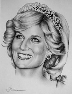 art pencil drawings | Princess Diana
