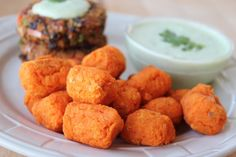 These baked sweet potato tots are packed with vitamins A and C, filled with fiber and fat free, they're a healthy, fun twist on traditional tater tots!What do you serve with a super healthy Sweet Tater Tot Recipes, Potato Recipes, Baby Food Recipes, Cooking Recipes, Free Recipes, Toddler Recipes, Pancake Recipes, Snack Recipes, Sweet Potato Tater Tots