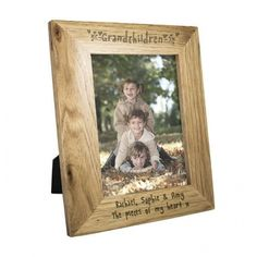 Personalise this Grandchildren Frame with any message over 2 lines, up to 30 characters per line.The personalisation will feature below the photograph.'Grandchildren' is fixed text.The frame can hold a 5 x 7 print. Gifts For Nan, Unique Gifts For Him, Presents For Men, New Home Gifts, Grandma Gifts, Personalized Gifts For Grandparents, Personalized Photo Frames, Personalised Gifts, Grandkids Picture Frames