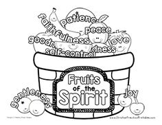 Fruit Of The Spirit Coloring Pages Free With Printables Ideas Gallery