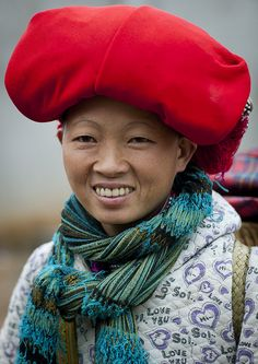 Red Dzao woman - Vietnam by Eric Lafforgue, via Flickr