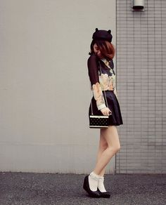 black for Autumn by tinytoadstool by shan shan, via Flickr