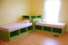 Twin Corner Storage Bed