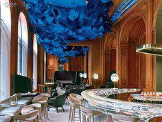 With futuristic forms & glowing elements, this Paris bar/restaurant evokes a sense of wonder: http://bit.ly/1EZUQa7