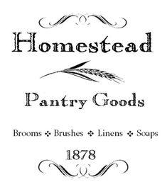 Pantry Goods 1