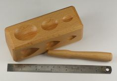Dapping block wood wooden 4 SIDES holes doming forming tool shaping jewellers
