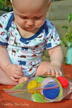 sensory water play for baby