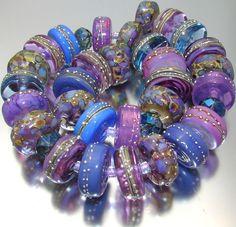"Sistersbeads ""Romance"" Handmade Lampwork Beads #Lampwork"