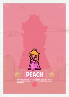 Peach  (IN CMYK mode looks better)  #Super #Mario #Bros #Collection #Poster #Vintage #geed #nerd #arcade #game #retro #Mario #Luigi #Peach #bowser #mrjmendes