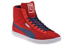 Puma Archive Lite MID High Sneaker rot EUR 41 UK 7,5 Herren Schuhe Stiefel Boots