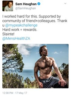 New picture of Sam Heughan from Men's Health ZA / My Peak Challenge - May 17th, 2017