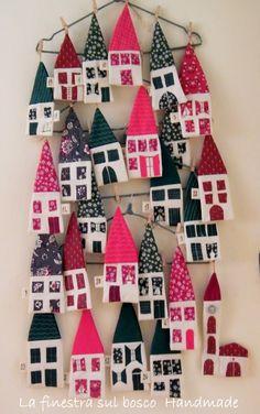 La finestra sul bosco Handmade: Calendario dell'avvento fai da te