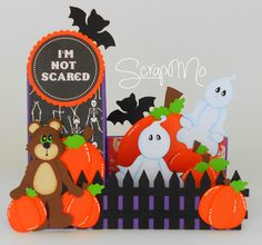 Scrapandome Con Los Recuerdos: Side Step Card de Halloween...!!!