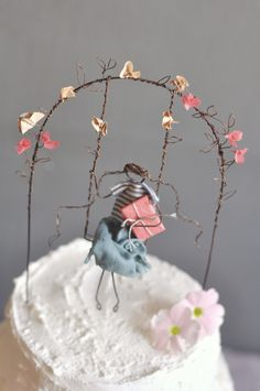birthday cake topper for my lovely Bianca  lebianchemargherite.blogspot.it