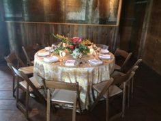 Table setting at the Misty Farm