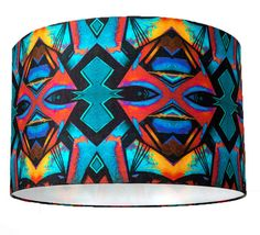 Aztec Print Fabric Lampshade or Ceiling Lamp by HomeCrush on Etsy