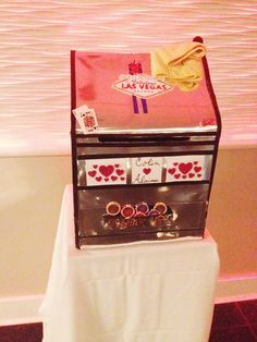Vegas Themed Wedding Gift Card Box