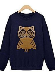 Women's Owl Loose Set Of Head Show Thin And Velvet Joker Fleece