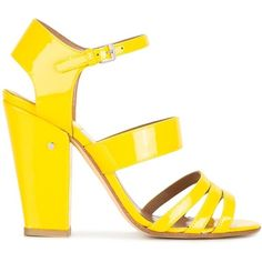 Laurence Dacade Ninon sandals (£470) ❤ liked on Polyvore featuring shoes, sandals, yellow, laurence dacade shoes and laurence dacade