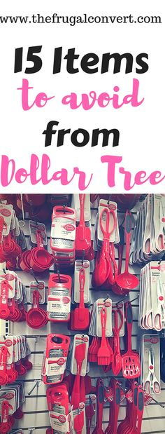 15 Things you should NEVER Buy from the Dollar Tree #dollartree #budget #shop #save #money Dollar Store Hacks, Dollar Store Crafts, Dollar Stores, Dollar Tree Gifts, Dollar Tree Decor, Dollar Tree Glasses, Dollar Tree Candles, Budgeting Tips, Saving Ideas
