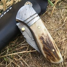 LAYLA Handmade Damascus Pocket Folding Knife - Free Shipping anywhere in the USA