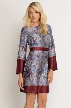 Satin-Kleid mit Muster