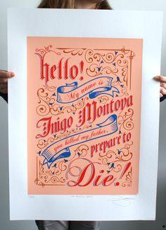 "Somebody please get this for me... ""The Princess Bride"" Inigo Montoya Limited Edition Print | BarryDBulsara"