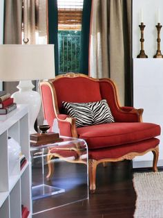 RED CHAIR CREATES ELEGANCE