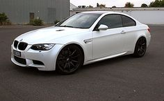 BMW E92 M3 wrapped in 3M 1080satin pearl white vinyl