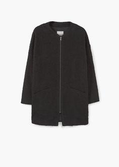Abrigo cocoon textura | MANGO