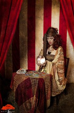 Interesting image to recreate but with modern a spin on vintage fortune telling costume