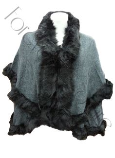 Grey Double Layer Knitted Faux Fur Cape Product Code: 695 Pack of 4 Pieces£20.00 per Piece VAT: 0%