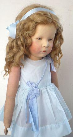 Altes Käthe Kruse Mädchen Ilsebill Stoffkopf mit kurzer Naht originale Kleidung   eBay