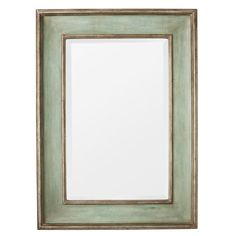 A simple rectangular mirror with a hand-made wooden frame, hand-painted to an antique green finish with a silver trim. Can be hung vertically or horizontally. Unique Mirrors, Cool Mirrors, Beautiful Mirrors, Parsons Green, Mirror Painting, Chalk Painting, Lounge Decor, Interior Design Living Room, Dining Room