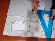 Blusa cruzada con nudo cache-coeur Corset Tutorial, Blouse Tutorial, Easy Sewing Patterns, Dress Patterns, Sewing Blouses, Pattern Drafting, School Fashion, Sewing Techniques, Apparel Design