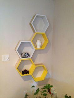 DIY honeycomb shelves