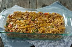 "Cheesy ""Chicken"" Ranch Casserole @hiddenfruitnveg       You can use black beans instead of chicken."
