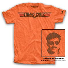 Just because there's a Sneaky Inside Print. Tomas Cruz Tee Mns Bright Orange now featured on Fab.