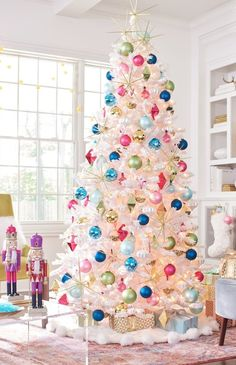 Mid-century goes very merry modern. Our exclusive Merry and Bright Ornament Collection is all about vintage colors of the beloved Shiny Brite ornaments from the 1950s, but with updated designs you can only find here at Grandin Road.