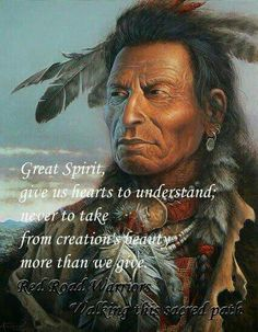 It is amazing how native Indians from both Americas sensed presence of God. They might have given a different name to God, yet they always knew He was there.