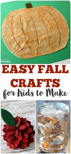 Share some of these easy fall crafts for kids with your children this autumn!