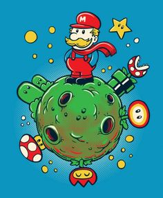 Super Mario Bros x Le Petit Prince - Le Petit Plombier par Sassá Cartum