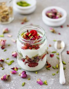 Rose, Orange Blossom & Pistachio Breakfast Parfait