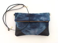 Fold Over Cross Body Bag with Removable Strap by MilkhausDesign, $84.00