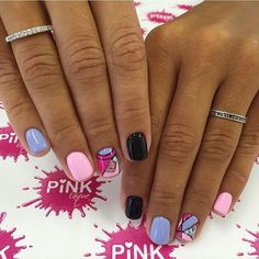 Bright nails ideas, Bright summer nails ideas, Ideas of colorful nails, Manicure for young girls, Nails trends 2017, Painted nail designs, Spring nails by gel polish, Spring summer nails 2017